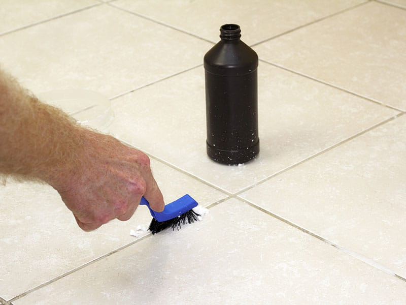 Handled Black Scrub Brush