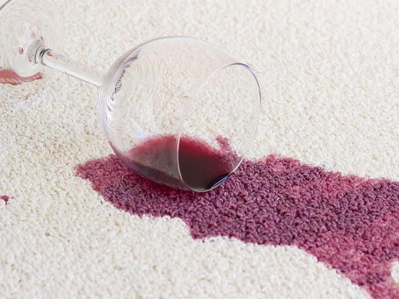 Red Wine Spill White Carpet
