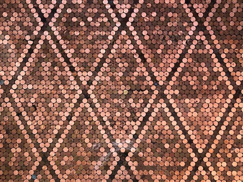 Shiny Copper Penny Floor