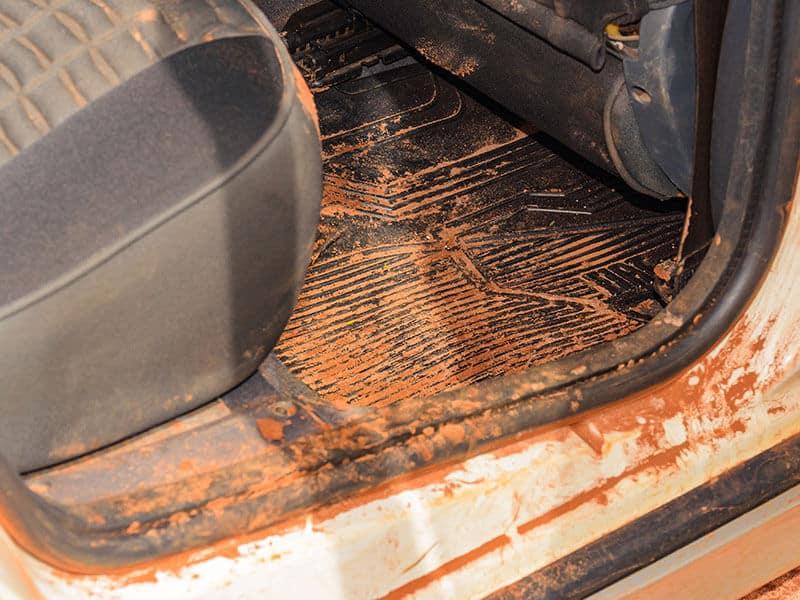 Dirty Car Interior Sand