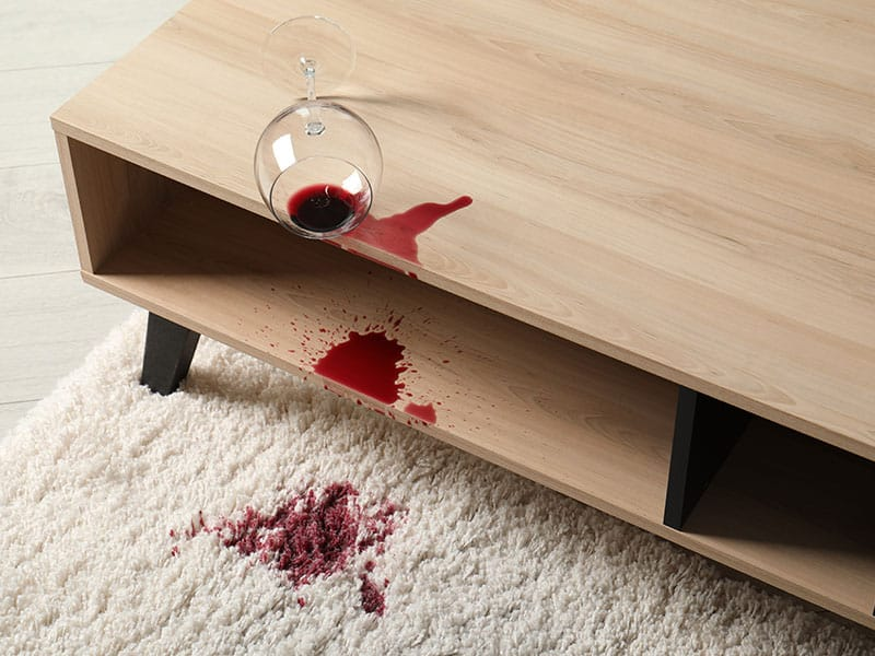 Glass Spilled Red Wine